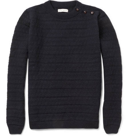 Oliver Spencer Patterned-Knit Wool-Blend Sweater