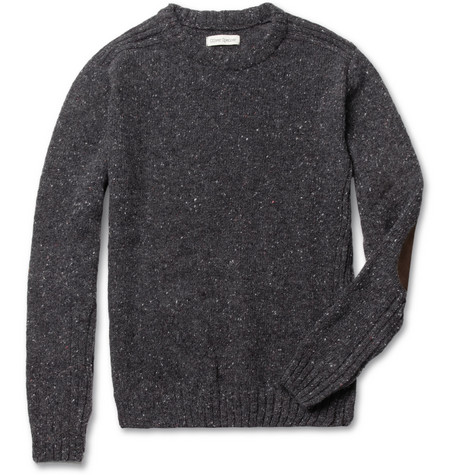 Oliver Spencer Elbow-Patch Lambswool-Blend Sweater