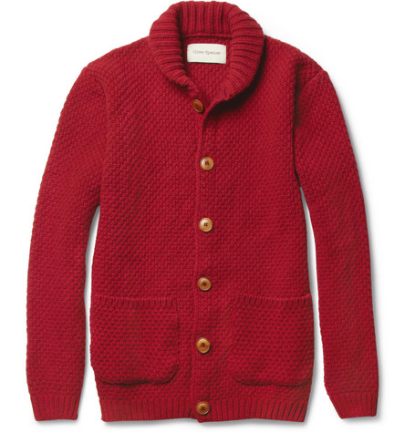 Oliver Spencer Bloomsbury Lambswool-Blend Shawl-Collar Cardigan
