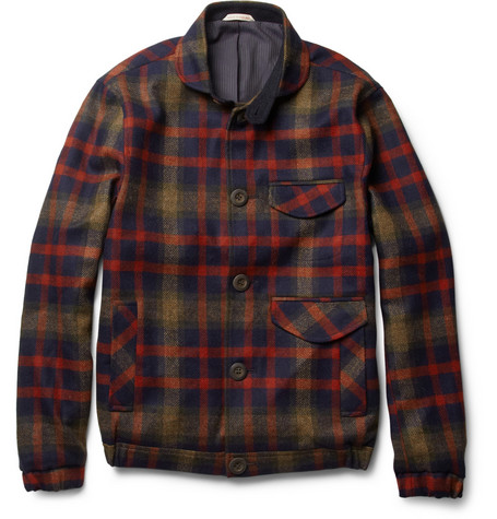 Oliver Spencer Fisher Lightweight Check Wool Jacket
