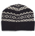 Oliver Spencer Fair Isle Wool-Blend Beanie Hat