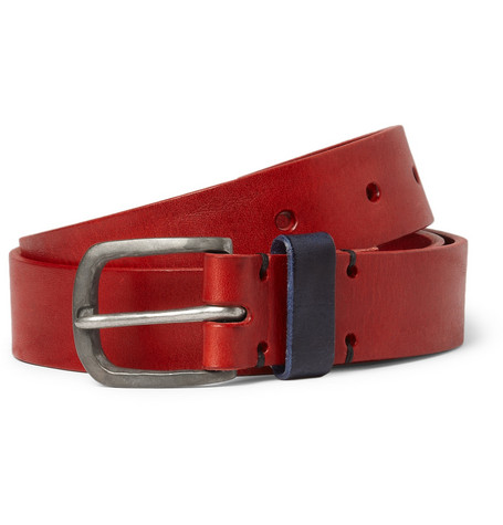 Oliver Spencer Contrast-Panel Leather Belt