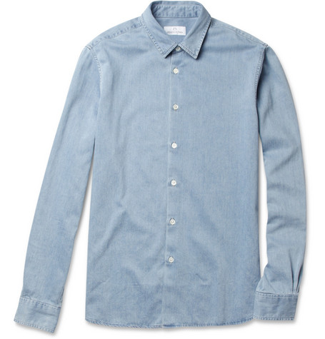 Hentsch Man Friday Slim-Fit Lightweight Denim Shirt