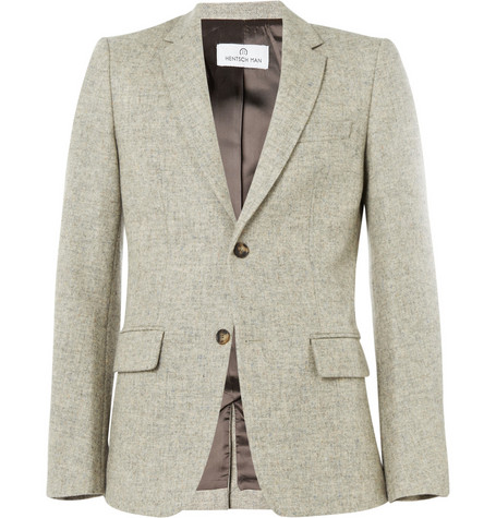 Hentsch Man John Flecked Wool Suit Jacket