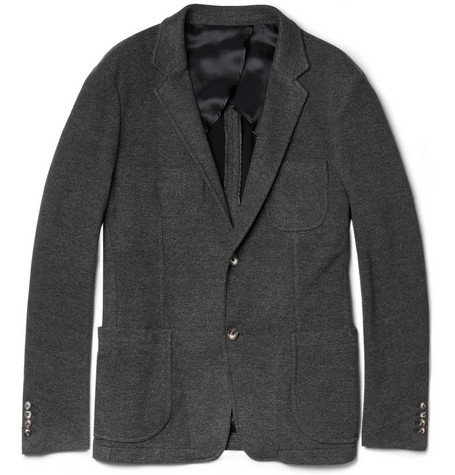 Hentsch Man John Unstructured Cotton-Blend Jersey Blazer