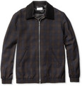 Hentsch Man Winter Plaid Wool-Blend Bomber Jacket