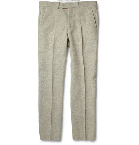 Hentsch Man Joe Slim-Fit Flecked Wool Trousers