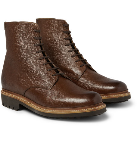 Grenson Hadley Pebble Grain Leather Boots
