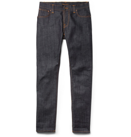 Nudie Jeans Thin Finn Slim-Fit Organic Dry Denim Jeans