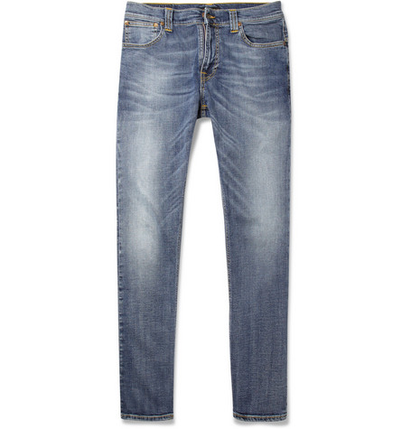 Nudie Jeans Thin Finn Washed Slim-Fit Jeans