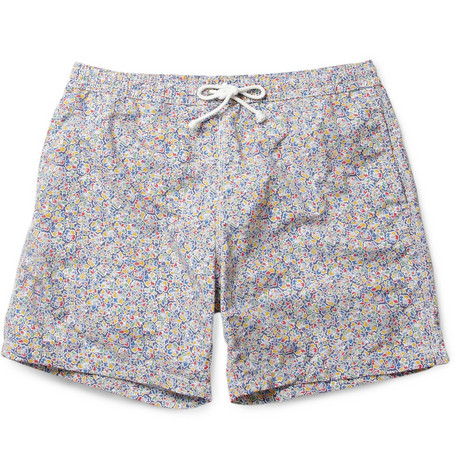 Hartford Mid-Length Liberty-Print Swim Shorts