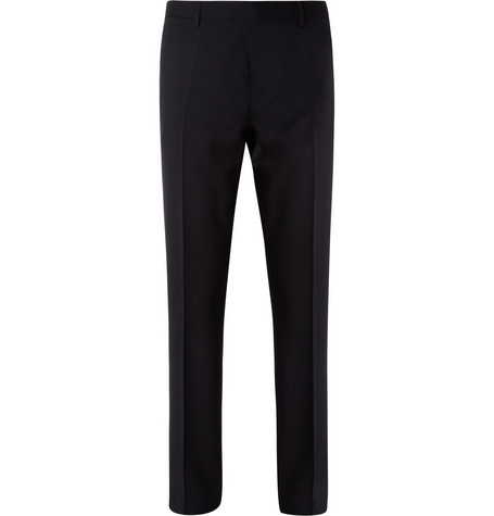 Burberry London Navy Relaxed-Fit Wool Suit Trousers
