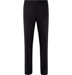 Burberry London Navy Straight-Leg Wool Suit Trousers
