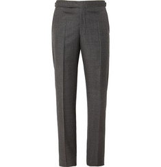 Richard James Charcoal Relaxed-Fit Wool Suit Trousers