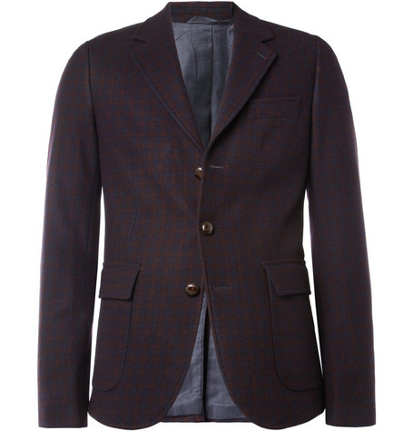 Hartford Plaid Wool-Blend Blazer