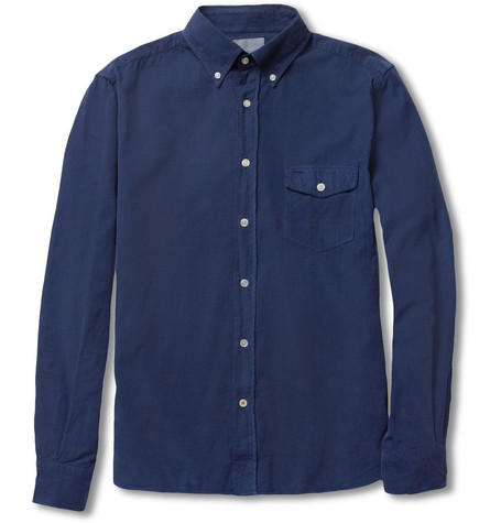 Hartford Button-Down Collar Fine-Corduroy Shirt