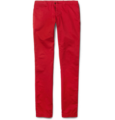 Hartford Slim-Fit Cotton-Twill Trousers