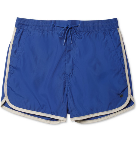 Marc by Marc Jacobs Piped Short-Length Swim Shorts