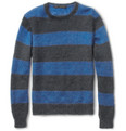 Marc by Marc Jacobs Striped Loose-Knit Mohair-Blend Sweater