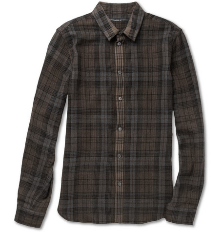 Marc by Marc Jacobs Plaid Woven-Wool Shirt