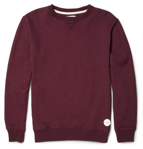 Saturdays Surf NYCBowery Loopback Cotton-Jersey Sweatshirt