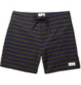 Saturdays Surf NYC Schulze Mid-Length Stripe-Print Swim Shorts