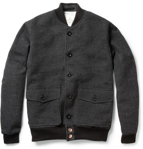 Private White V.C. Wool-Tweed Bomber Jacket