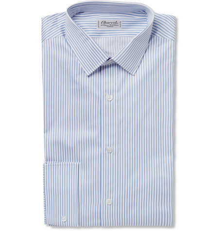 Charvet Striped Cotton-Poplin Shirt