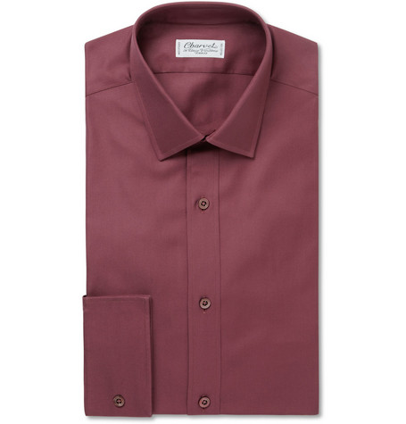 Charvet Textured-Cotton Shirt