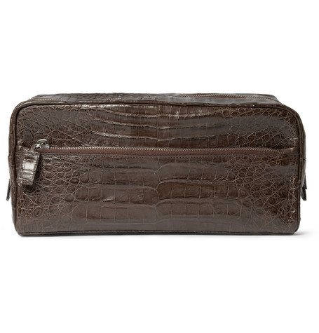 Santiago Gonzalez Crocodile Wash Bag