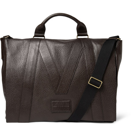 Marc by Marc Jacobs Textured-Leather Messenger Bag