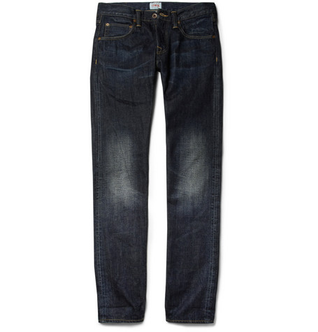 Edwin ED-55 Tapered-Leg Washed-Denim Selvedge Jeans