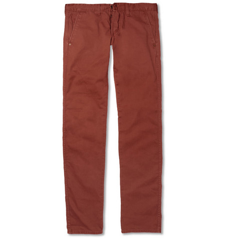 Edwin Straight-Leg Washed-Cotton Trousers