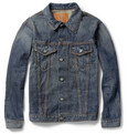 Jean Shop Washed Selvedge Denim Jacket