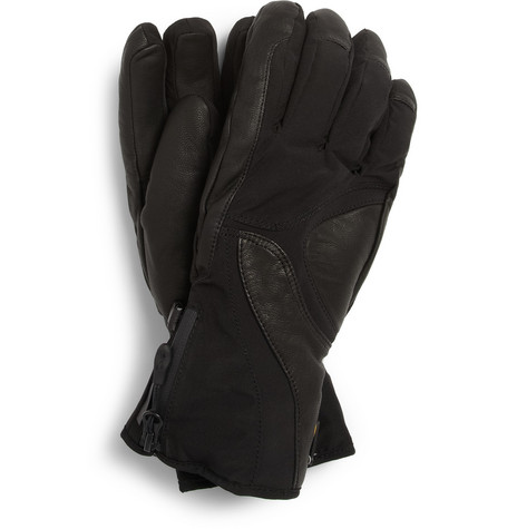 Kjus Leather-Panelled Stretch Ski Gloves