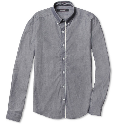 Bespoken Selvedge-Trimmed Slim-Fit Chambray Shirt
