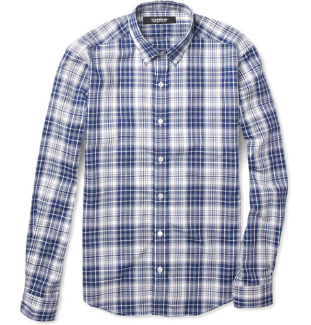 Bespoken Button-Down Collar Check Cotton Shirt