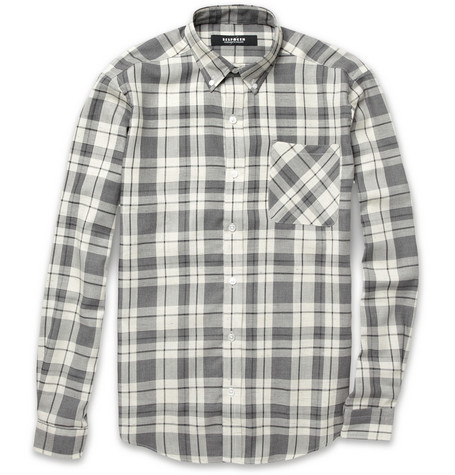Bespoken Plaid Button-Down Collar Cotton Shirt