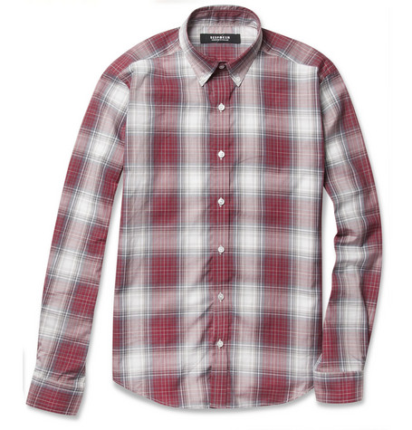 Bespoken Slim-Fit Button-Down Collar Plaid Cotton Shirt