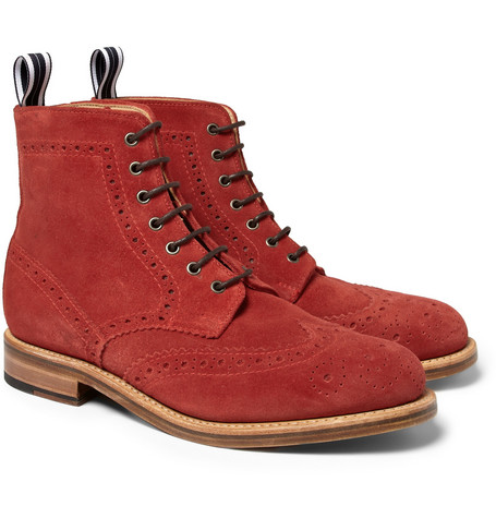 Oliver Spencer Suede Brogue Boots