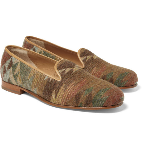 Stubbs & Wootton Spirit Navajo-Inspired Wool Slippers