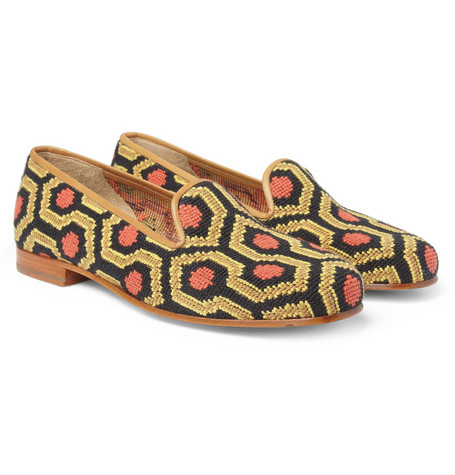 Stubbs & Wootton Needlepoint Slippers