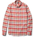 A.P.C. - Check Cotton Button-Down Collar Shirt