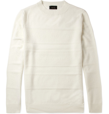 A.P.C. Jacquard-Knit Merino Wool Sweater