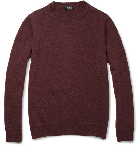 A.P.C. Flecked Merino Wool Sweater