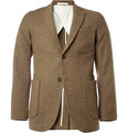 Beams Plus Unstructured Slim-Fit Donegal Tweed Blazer