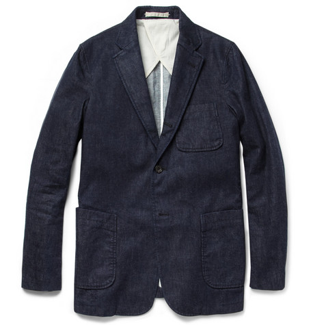 Beams Plus Unstructured Slim-Fit Denim Blazer