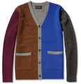 Beams Plus Colour-Block Wool Cardigan