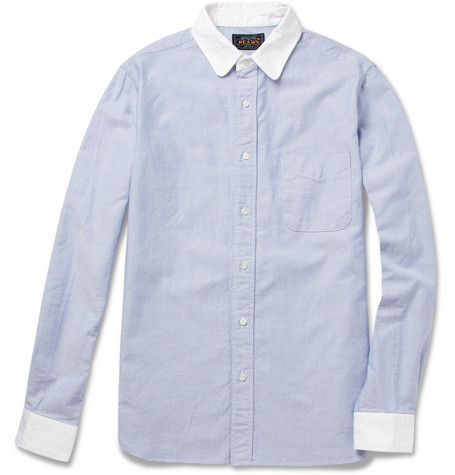 Beams Plus Two-Tone Cotton Oxford Shirt
