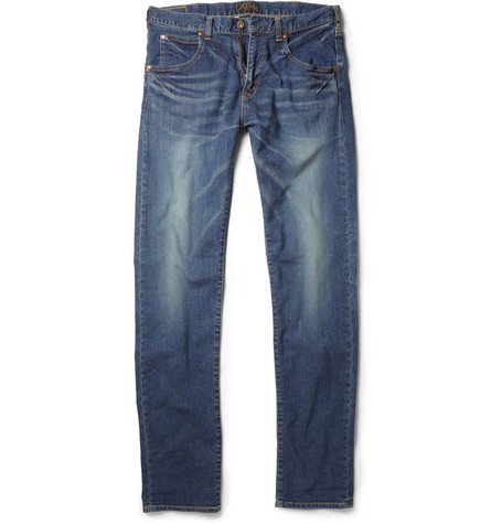 Beams Plus Slim-Fit Washed-Denim Jeans